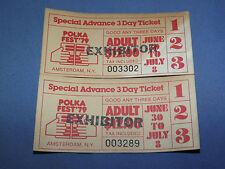 VINTAGE 2 1979 AMSTERDAM NY POLKA FEST 3 DAY TICKET