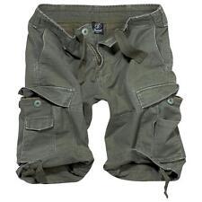 BRANDIT Bermuda Pantaloncini uomo militare tasconi Vintage Classic Shorts Olive
