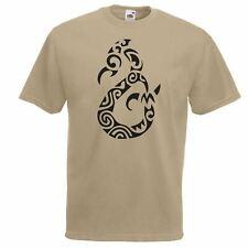 Da Uomo Kaki Manaia Sprit Polinesiano Tatuaggio T-shirt