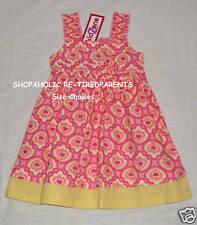 KIDZONE - DRESS – SUMMER - PINK - YELLOW - GIRLS - SIZES 4, 5, or 6X – NWT $18