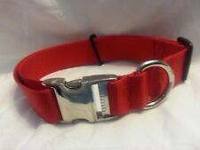 Adjustable 1.5 Webbing Collar Bull Dog Tough USA MADE Metal Side Release Buckle