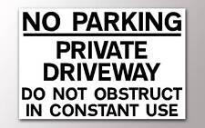 Pas de parking allée indépendante à ne pas gêner Signe Rigide
