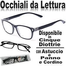 OCCHIALI DA LETTURA REFLEXX VISION  COLORE NERO  GRADAZIONI