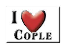 SOUVENIR UK - ENGLAND FRIDGE MAGNET UNITED KINGDOM I LOVE COPLE (BEDFORDSHIRE)