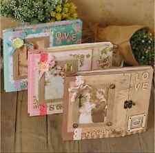 Pretty Luxury DIY Craft Vintage Photo album Scrapbook w Deco Accessories Gift UK