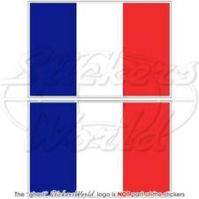 FRANÇAIS Drapeau FRANCE 100mm Stickers Autocollants x2