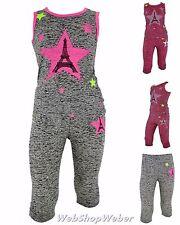 Kinder 2 tlg. Set Kleid Top Leggings T-Shirt Hose Girls Mädchen Sport Neon Shirt