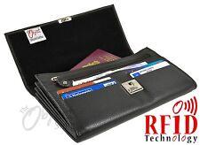 Rfid Calidad Real Cartera De Viaje Porta Pasaporte tarjeta de crédito Funda Protectora