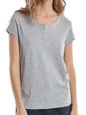 Marc O'Polo Damen Schlafanzugshirt Shirt Kurzarm 1/2 mit Knopfleiste - 160863