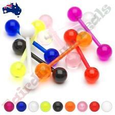 Bio Flex Flexible Barbell Tongue Ring with Acrylic Balls