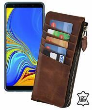 Samsung Galaxy S10 Hülle Echt Leder Handy Tasche 1A Slim Case mit Reißverschluss