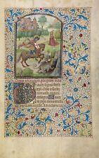 "Willem Vrelant Illumination : ""Saint George and Dragon"" (1460s) — Fine Art Print"