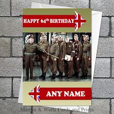 Dad's Army birthday card. Personalised, plus envelope. (Dads Army Original)