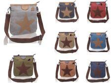 Mujeres Lona patrón de estrella pequeña bandolera bolsa de hombro Bolso mensajero de Moda/