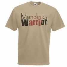 Mens Khaki 'Mandinka Warrior' Roots T-Shirt American Slavery TV Series Top