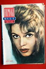 BRIGITTE BARDOT ON COVER 1961 RARE EXYU MAGAZINE