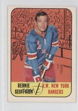 1967-68 Topps #29 Bernie Geoffrion New York Rangers Hockey Card