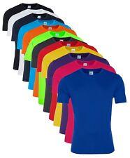 Uomo traspirante asciugatura veloce Atletico LISCIO poliestere T-shirt Maglietta