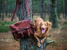 Handmade Retro Real Leather Satchel Briefcase Laptop Portfolio Bag Messenger