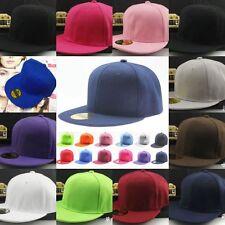 Unisex Blank Plain Snapback Hats Hip-Hop adjustable bboy Baseball Sports Cap