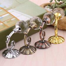 1 Pair Metal Crystal Glass Luxury Round Curtain Holdback Hooks Holders Wardrobe