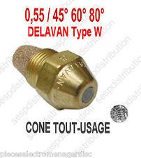 Gicleur DELAVAN Type W débit 0,55 angle 45° 60° 80° pour chaudière fioul