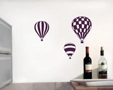 Heißluftballon Wandtattoo Ballon  3er Set   22 Farben 7 Größen  Wandaufkleber