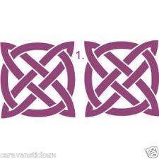 Celtic Narrowboat Knot SQUARE Adesivo Decalcomania Grafica Stile 1-singolo