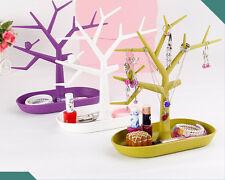 Jewelry Bird Tree Display Stand Bracelet Earrings Ring Makeup Holder Rack Tray