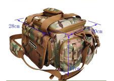 AU Fishing Tackle Bag Pack Shoulder Waist Waterproof  Reel Lure Gears Storage