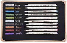 10 Colors/Lot Metallic Marker Pen DIY Scrapbooking Crafts Soft Brush Pen Art