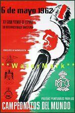 Championships Campeonatos del Mundo 1962 Vintage Poster Print Motorcycle Races