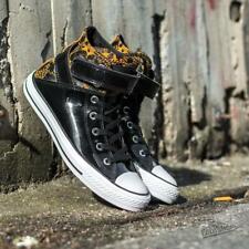 Converse W All Star Brea Hi Black Antiqued Trainers Size UK 3, 8 (660)