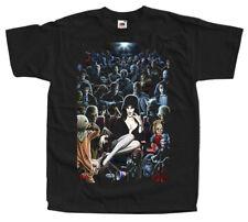Elvira: Mistress of the Dark V32, movie poster, T-shirts (BLACK) ALL SIZES S-5XL