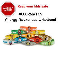 AllerMates Allergy Wristbands alert Medical ID Silicone Bracelet Emergency band