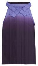 Japanese Women's Traditional Kimono HAKAMA Skirt Polyester #14 Purple from Japan