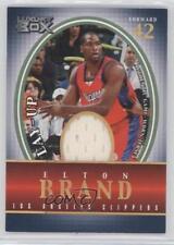 2004 Topps Luxury Box Lay-Up Relics Loge Level LU-EB Elton Brand Basketball Card
