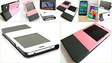 Flip Slim Case View Cover Tasche Samsung Galaxy S 5 SM-G900 F Schutz Hülle Folie