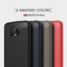 Housse etui coque silicone gel carbone pour Motorola Moto E4 Plus + verre trempe