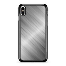 Stunning Silver Glamorous Grey Printed Metallic Effect Fine Phone Case Cover