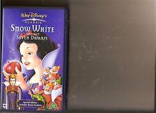DISNEYS SNOW WHITE AND SEVEN DWARFS 7 DISNEY VIDEO VHS