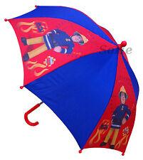 Feuerwehrmann Sam Kinder Stockschirm Regenschirm Schirm manuell