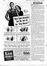 "1940 Lee Overalls Jelt Denim "" Dog House "" Overalls Print Ad"