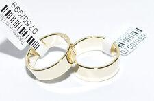 1 Paar Trauringe Gold 750 Gelbgold - Breite 6mm und 7mm - Stärke 1,30mm