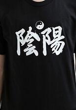 Yin Yang T Shirt Japanese Calligraphy Martial Arts Tai Chi Anime Bushido Tee Men