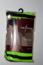 Stripe Tights Bright Green Black LEG AVENUE OSFM Costume Halloween Stockings