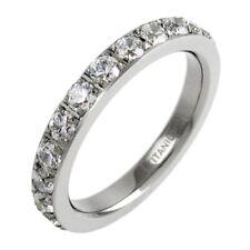 Stunning Titanium 2.0 Carat CZ Eternity Wedding Band Ring Size 5-9
