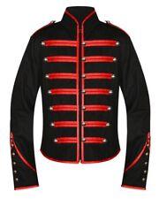 Unisexe gothique steampunk rouge PARADE MILITAIRE MARCHE BANDE veste