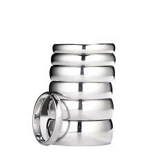 White Tungsten Carbide Wedding Ring Mens Womens 2, 3, 4, 5, 6, 7, 8, 10mm