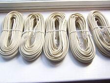 LOT(5) 25' TELEPHONE PHONE CORD E195576 RJ AWM20251 60C 150V 26AWG TIGERCABLE